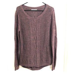 Purple Rubbish Knit Sweater